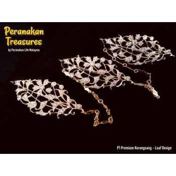 P1 Premium Kerongsang - Leaf Design