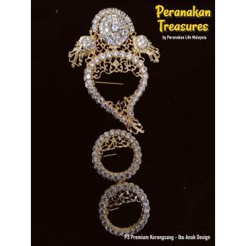 P3 Premium Kerongsang - Ibu Anak Design